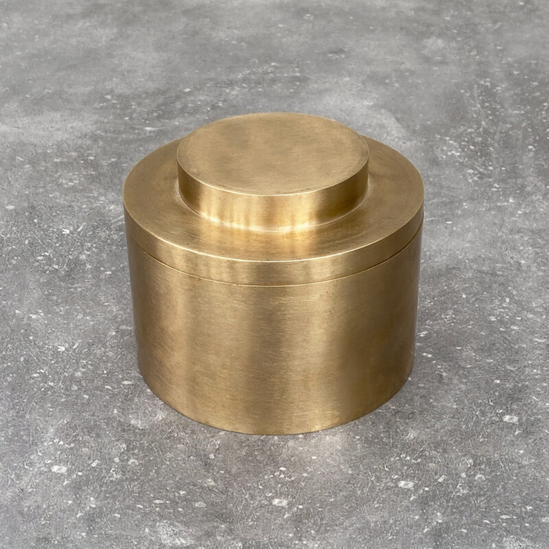 brass canister, container, storage, interior, Brandt collective